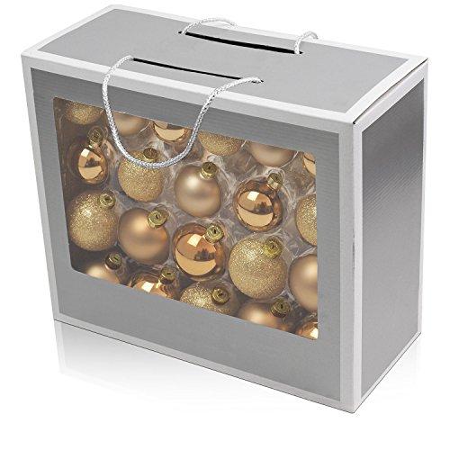 Set de 42 bolas de navidad Ø5/5,5/6,5cm vidrio dorado adornos del ár