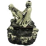 ZBJJ Créativité Art Nude Cendrier Beauté Squelette Statue Squelette Fun Cendrier Envoyer son petit ami 13x14x11cm