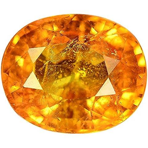 1.26 CT. natural genuina SI Nigeria Granate mandarina Con certificación GLC