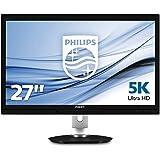Philips 275P4VYKEB/00 68,6 cm (27 Zoll) PLS-Monitor (USB 3.0, 2xDisplayport, 5120 x 2880, 60 Hz, höhenverstellbar, Pivot, Adobe RGB 99%) schwarz