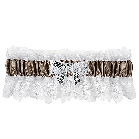 Ivy Lane Design Marilyn Sequin Bow Garter, Brown