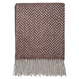 DREAMWOOL Blanket Co. Herringbone Twill Marrón Alpaca manta–50% alpaca, 50% lana
