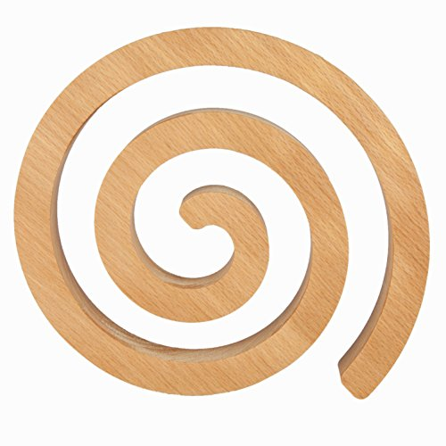 Rasch Design Topfuntersetzer Swirl 21cm   Buche, Ahorn, Eiche, Kirsche oder Nussbaum Massivholz   Kochtopf Untersetzer aus Holz (Buche)