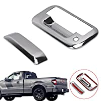WANOOS Triple Chrome Plated ABS Tailgate Door Handle Cover for F150 2004-2014