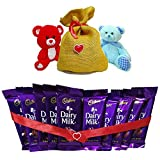 #10: Valentine Chocolate Pack of branded choclates with Teddy bear and Jute Bag