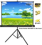 #6: Inlight Cineview Series Tripod Type Projector Screen 6 Ft. (Width) X 4 Ft. (Height) And Full Hdtv Format