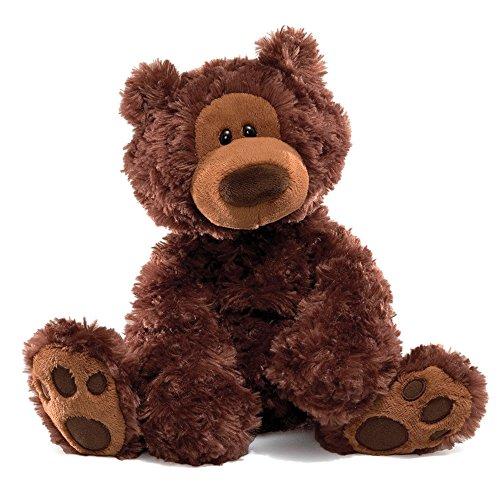 Enesco 320046 Gund Plüsch Bär Philbin 33 cm schokoladenbraun (Bär Gund Braun Teddy)