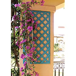Set de 2 Celosías MADERA COMPOSITE Azul vintage 50x100 cm. Marca: B Cottage Decor.