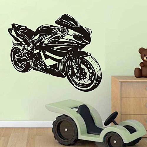 Knncch Klasse Motorrad Wandaufkleber Ausgangsdekor Wandtattoo Für Jungen Zubehör Vinyl Wandbild Selbstklebende Dekorative Motorrad Modell