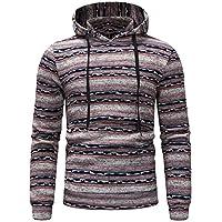 Herren Hoodie,TWBB Warme Mantel Streifen Drucken Pullover Coat Outwear Lange Ärmel Hemd