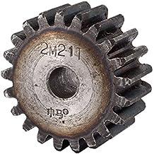 sourcingmap® Gris módulo de repuesto 2 21T recta de la rueda engranaje cilíndrico de 10 mm x 46 mm x 20 mm