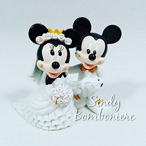 Disney coppia di sposi resina minnie e topolino bomboniera matrimonio