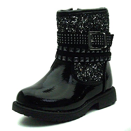 SB110 Studio BIMBI Girls Mid Calf Baby Boots w/zip in Black Taglia 23