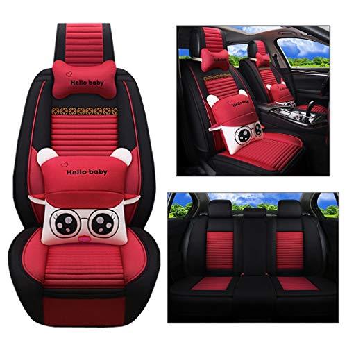 Preisvergleich Produktbild Universal-Autositzbezug,  3D-All-Inclusive-Autositzkissen,  Wattepad,  schwarz,  geeignet für Auto,  SUV,  Toyota,  BMW, Red