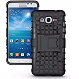 Dream2cool FOR Samsung Galaxy J2 (2016 Edition) Tough Hybrid Flip Kick Stand Spider Hard Dual Shock Proof Rugged Armor Bumper Back Case Cover For Samsung Galaxy J2 (2016 Edition) - BLACK