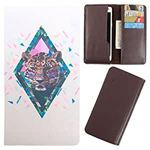 DooDa - For Lava X10 PU Leather Designer Fashionable Fancy Case Cover Pouch With Card & Cash Slots & Smooth Inner Velvet