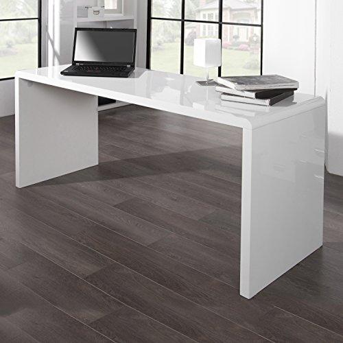 CAGÜ - Design Schreibtisch [SOHO] Weiss Hochglanz 120cm - Kategorie Holz Bürostühle