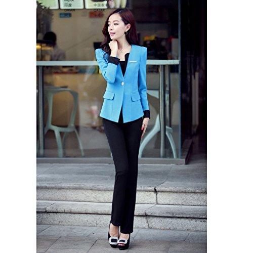 Belsen - Tailleur-jupe - Femme Multicolore Mehrfarbig Taille unique Pfauenblau