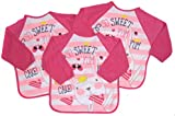 Baby Bib with Sleeves Set Of Three Boys Or Girls 6-18 month Approx (Girls)