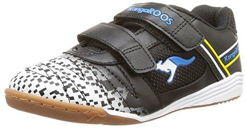 KangaROOS - Kangacourt 2075 B, Scarpe fitness Bambino Nero (Noir (Black/Blue 544))