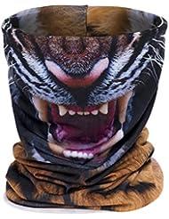 Deporte Tiempo Libre/ropa deportiva para hombre//Ciclismo/Artículos en la cabeza/Frente bandas & multifunción paños de toalla, protector bucal, cuello, cinta, gorro, color tigre, tamaño 42.5x25.5cm