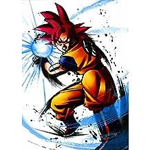 Poster Cartel Super Dragon Ball Goku Ir Kamehame(91cmx128cm)