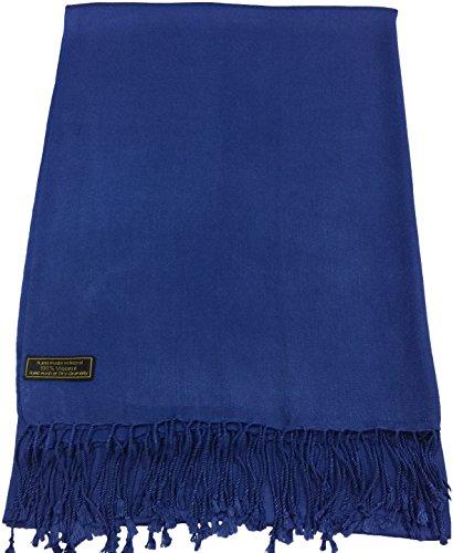 CJ Apparel Solide Couleur Unie Conception Népalaise Châle écharpe (50+ couleurs) Secondes Bleu Royal