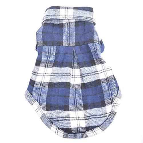 LouiseEvel215 Frühlings-Sommer-Plaid-Hundekleidung-Sommer-Hundehemden für kleine mittlere Welpen-Haustiere, die Yorkies Chihuahua-Kleidung kleiden -