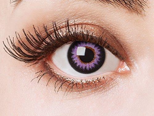 aricona Kontaktlinsen Farblinsen - Big Eyes Circle Lenses - bunte, farbige Manga Kontaktlinsen ohne Stärke - rosa Anime Augenlinse, 12 Monatslinsen für Cosplay