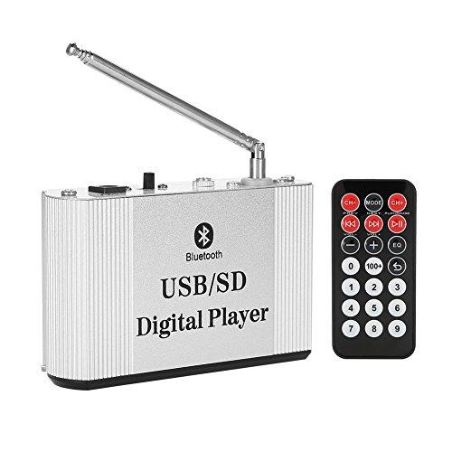 Richer-R Mini Bluetooth Verstärker, Super Heavy Bass MP3 Stereo Audio Endstufe Verstärker,Tragbar Endverstärker FM Radio USB/TF Karte/AUX Digital Hi-Fi Stereo Verstärker für Handy TV Auto usw.