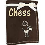 TeddyT's Personalised Super Soft Large Doggy Pet Throw Blanket (Chocolate Brown)