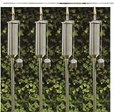 buvtec Confezione da torcia da giardino in acciaio inox set 120cm con tappo di sicurezza