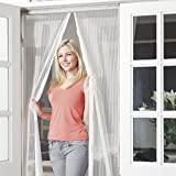 JML Snap Screen Magnetised Mesh Door Curtain: Bugs Out, Fresh Air In (White)