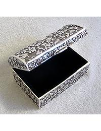Nostálgico decorados para joyería.–8cm de plata de baúl de maciza
