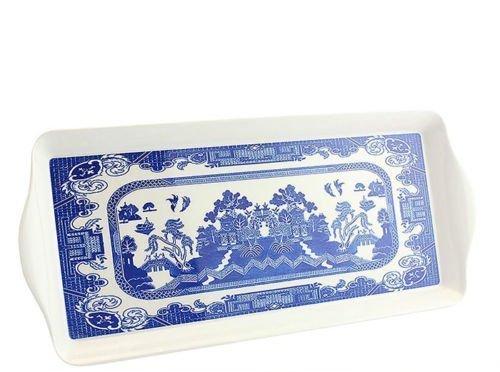 Leonardo Collection Plateau en osier, Mélamine, bleu, m