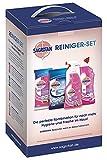 Sagrotan Reiniger-Set Desinfektionsmittel – WC-Reiniger, Allzweck-Reiniger, WC-Tücher, Allzweck-Tücher – 1 x 4 Desinfektionsprodukte im praktischen Vorteilspack