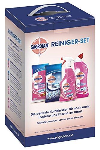 Sagrotan Reiniger Set, WC-Reiniger, Allzweck-Reiniger, WC-Tücher, Allzweck-Tücher, 1er Pack (1 x 4...