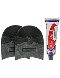 DIY chaussure Réparation Talon Kit avec 1 paire de talons Noir 7mm, Made in Italy et 1 Tube Klebfest Chaussure colle 30g Cordonnier qualité ! by Langlauf - 84 x 76 mm