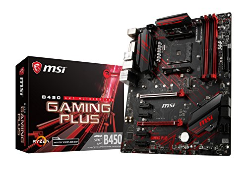 MSI B450 Gaming Plus - Placa Base Gaming (AM4, AMD B450, 4 x PCI-E x1, DDR4...