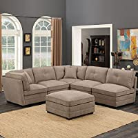 Barrington 6Piece Sectional beige tessuto divano