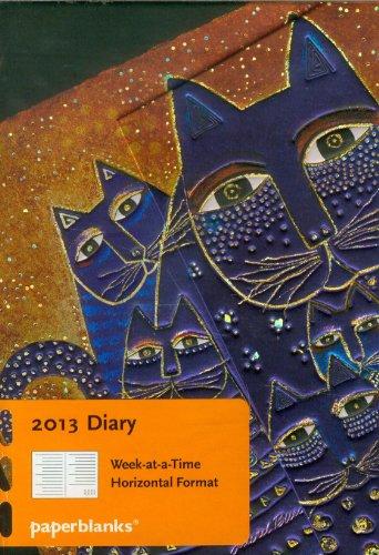 Paperblanks agenda chats méditérranéens mini 100x140 mm 1 semaine sur 2 pages à l'horizontal Janvier 2013 à Décembre 2013