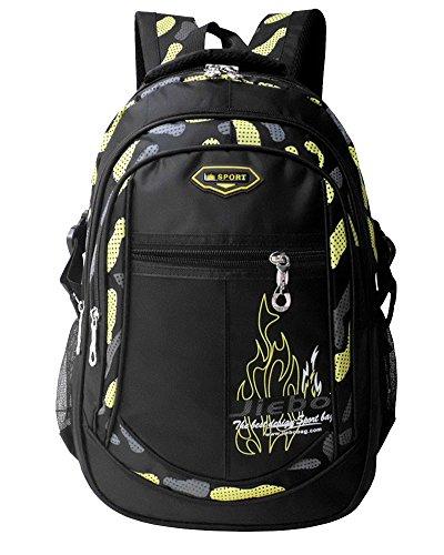 Imagen de  niño  escolares impermeable de morrales de multi función viajes volver packs amarillo