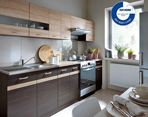 Küche 240cm von FIWODO® - ERWEITERBAR - günstig + schnell - Einbauküche Junona Lin...