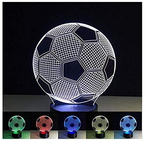 Neue 3D Fußball Lampe LED Nacht Licht Acryl 7 Farbwechsel LED Tisch Lampe Kinder Decor Geschenk