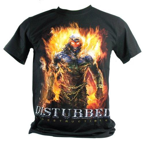 Disturbed-Maglietta da uomo nero INDESTRUCTIBLE Double Extra Large XXL
