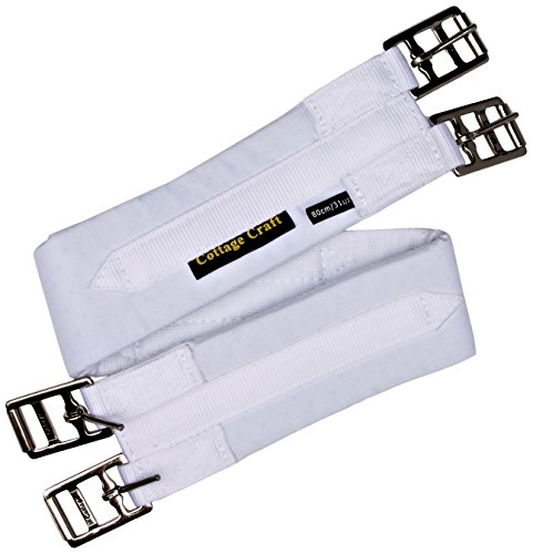 Cottage Craft Standard - Cincha de Polo y hípica, tamaño 150 cm, Color Blanco