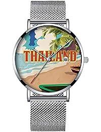 Toque Minimalista Mode Reloj de Pulsera Cuarzo Elite Ultra Thin Impermeable Reloj Deportivo con Fecha con