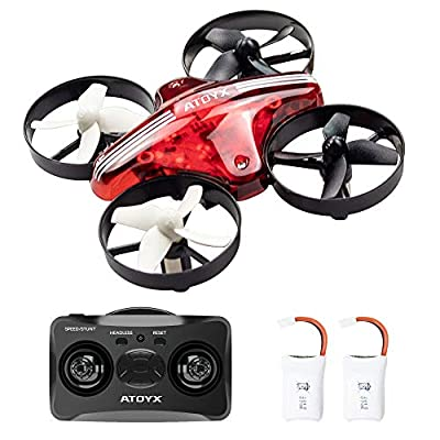 ATOYX AT-66 Mini Drone, RC Quadcopter Drone with Altitude Hold Headless Mode 3D Flips 3 Speeds Helicopter Drone with 2.4Ghz 6 Axis Gyro 4CH Portable Mini Pocket Drone for Kids and Beginners