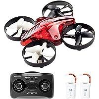 ATOYX AT-66 Mini Drone, RC Drone Niños 3D Flips, Modo sin Cabeza, Estabilización de Altitud, 3 Modos de Velocidad 4 Canales 6-Ejes, Regalos de Navidad o Año Nuevo para Niños y Principiantes, Rojo