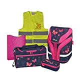 Herlitz Schulranzen Set Motion Plus XL 6 tlg inkl. graviertem Namensschild (Butterfly Dreams)